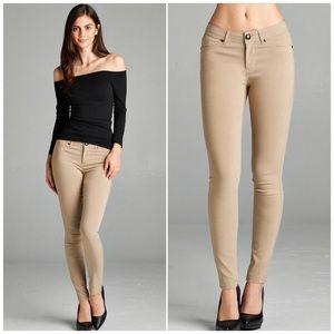 ❗️CLOSING SALE❗️ New Khaki Ponte Skinny Pants